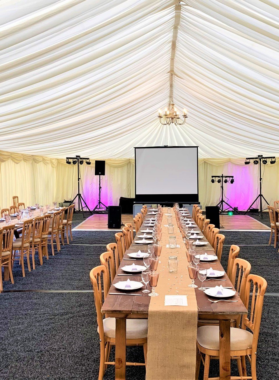 Marquee hire Surrey Wedding